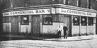 exterior view of the Commercial Bar with William Byrne 1955