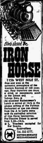 Iron Horse advert 1970