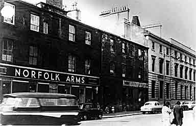 Image of the Norfolk Arms from Nicholson Street