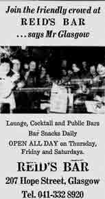 Ried's Bar advert 1979