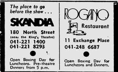 Rogano advert 1975