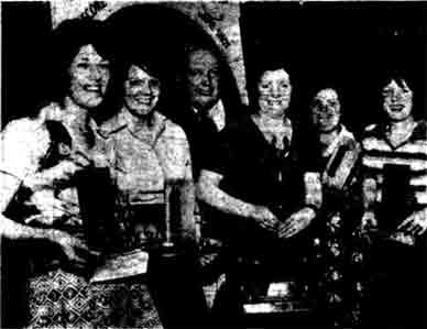 Winners of the first Glasgow's ladies darts league 1976